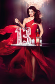 Penelope Cruz in red starring in the Campari 2013 Calendar