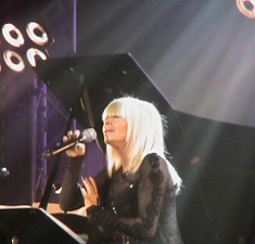Lily Ivanova during her concert in Olympia Hall