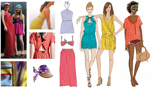 Technicolor Women's And Men's Wear Trends For Spring - Summer 2012
