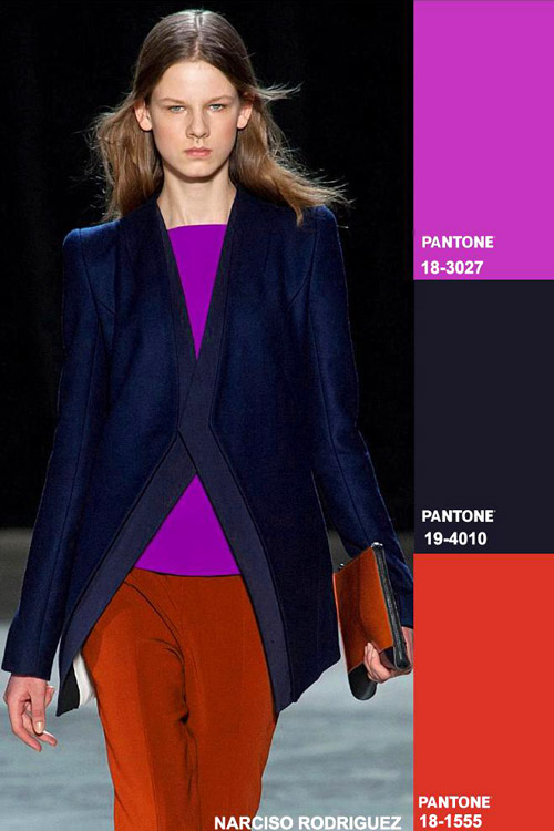 Colors fashion trend forecast: Fall-Winter 2014/2015 key color combos from TREND COUNCIL