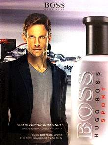 Jenson Button to be the new face of Hugo Boss