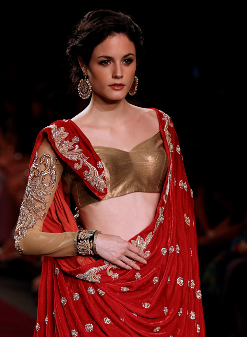 'A Royal Procession' collection presented during Lakme Fashion Week 2013