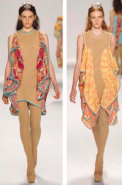 Bulgaria native Marina Nikolaeva Popska presented her Spring 2010 Collection at Mercedes-Benz New York Fashion Week