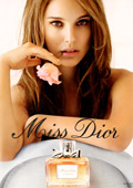 Natalie Portman naked in a Dior ad