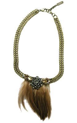 Feather jewelry for Fall-Winter 2011-2012