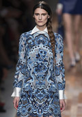 Valentino's collection at Paris Fashion Week – sensuality in lace, fur and leather