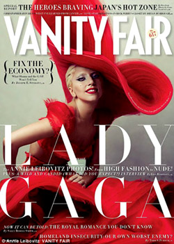 Lady Gaga in a photoshoot for Vanity Fair Magazine
