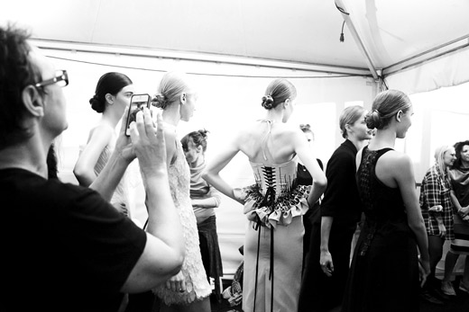 Backstage of Vienna fashion week through the eyes of a photographer