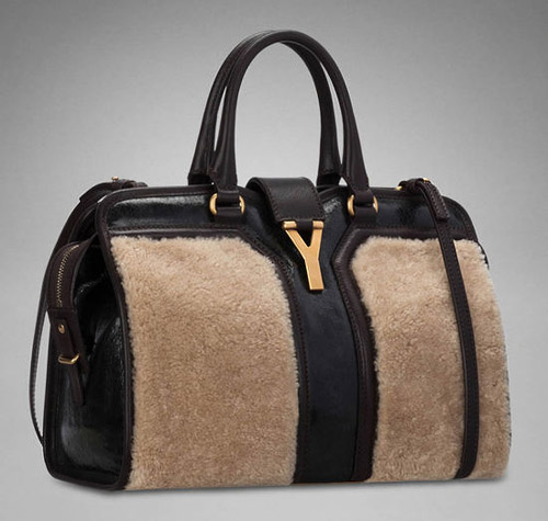 Yves Saint Laurent Cabas wool leather bag for Fall-Winter 2012/2013