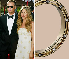 Brad Pitt personally was invented the model of the wedding rings with diamonds
