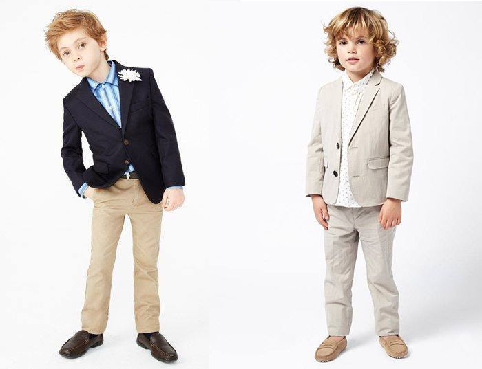 Cute children in suits
