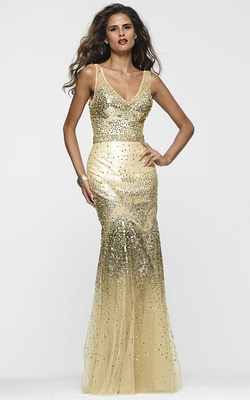 White Chiffon Dress on The Gold Dress Is A Hot Trend And A Perfect Choice For Your Prom  We