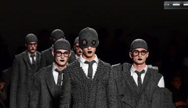 Fall-Winter 2017-2018 Men`s collection by American fashion designer Thom Browne during the Paris Fashion Week