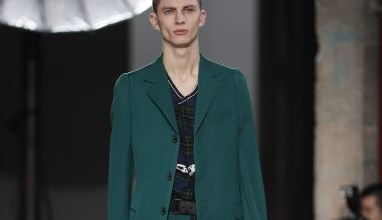 Fall-Winter 2017-2018 Menswear collection by Dutch-born designer Lucas Ossendrijver for Lanvin during the Paris Fashion Week