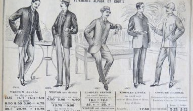 Men's fashion in 1914 from the Louvre Fashion Magazine