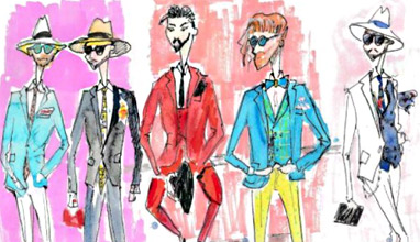 Pitti Uomo 92 Street Style in Sketches