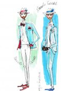 Photo 9 from album Pitti Uomo 92 Street Style in Sketches