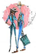 Photo 11 from album Pitti Uomo 92 Street Style in Sketches