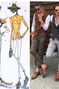 Photo 6 from album Pitti Uomo 92 Street Style in Sketches