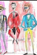 Photo 7 from album Pitti Uomo 92 Street Style in Sketches