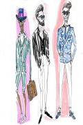 Photo 8 from album Pitti Uomo 92 Street Style in Sketches