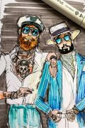 Photo 12 from album Pitti Uomo 92 Street Style in Sketches