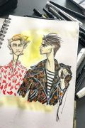 Photo 13 from album Pitti Uomo 92 Street Style in Sketches