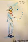 Photo 1 from album Pitti Uomo 92 Street Style in Sketches