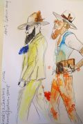 Photo 2 from album Pitti Uomo 92 Street Style in Sketches