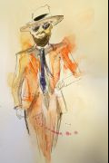 Photo 4 from album Pitti Uomo 92 Street Style in Sketches