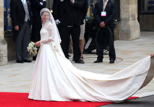Kate Middleton's wedding dress arrives in Bulgaria